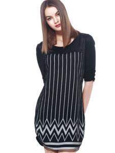 东琳女装2016新品条纹裙