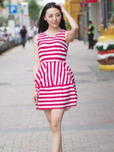 卡漫拉(KAMANLA)2016新品收腰连衣裙