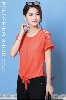 优美蕙2016橙色T恤