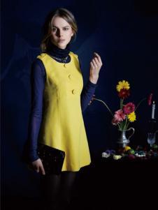 LIBAONI 利宝妮黄色无袖连衣裙