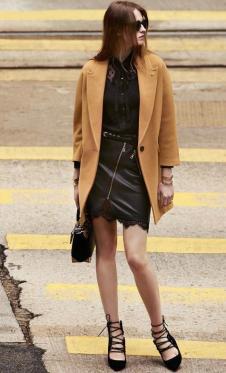 千细2016 秋冬新款棕色外套