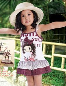 旺贝特女童吊带裙