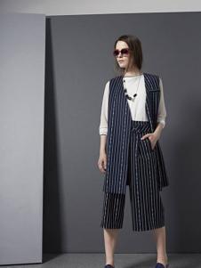 e.15女装2016新品条纹马夹