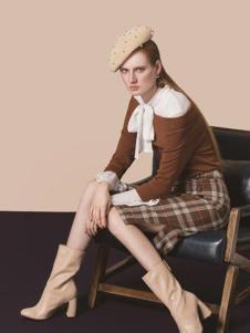HelenModa 2016新品格子半裙