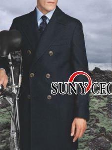 SUNY CEO男装长款大衣