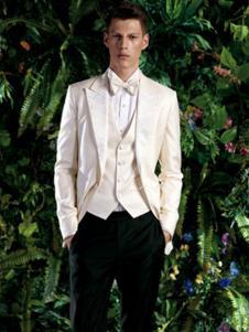 西霸男装白色礼服装
