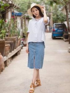 卡漫拉女装2016新品牛仔半裙