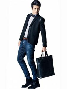 BSO蓝古威男士深色牛仔裤
