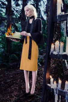 玛克茜妮黄色半裙