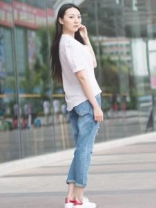 卡漫拉(KAMANLA)女装2016新品牛仔裤
