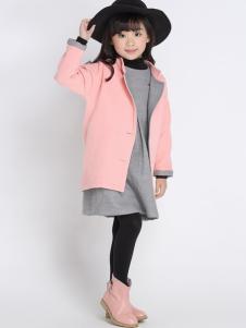 希比兒童装2016新品粉色外套