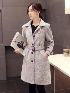 必芙丽2016灰色大衣