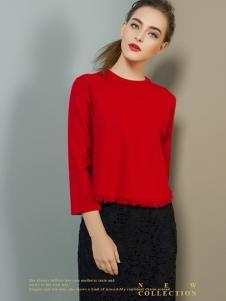 弗卡女装红色T恤