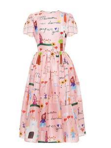 Flora Garden女装2016新款女式印花连衣裙