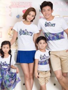 52017亲子装新品白色T恤