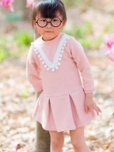 D.DaaBear童装新品粉色女裙