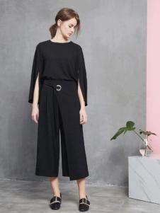 JUST&TH女装2016新品黑色套装