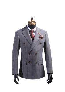 段记2016灰色西装