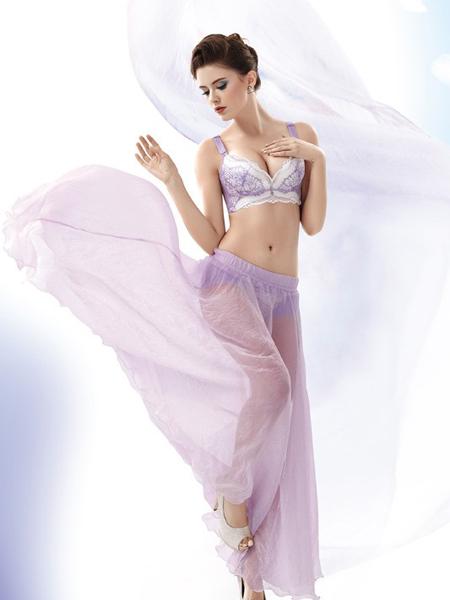 卡诗贝尔紫色潮流内衣新品