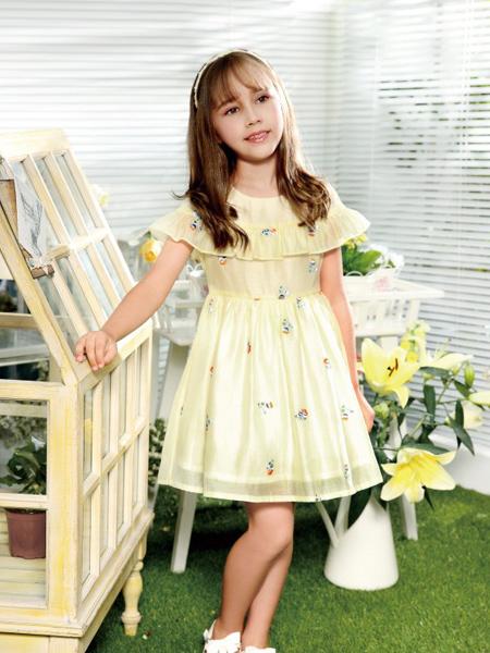 铅笔俱乐部夏季黄色连衣裙