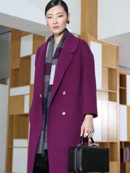 玳莎女装冬季时尚欧美长款毛呢大衣