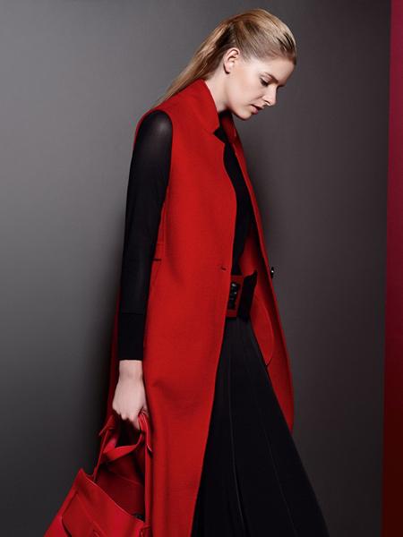 乔帛秋季时尚红色马甲新品