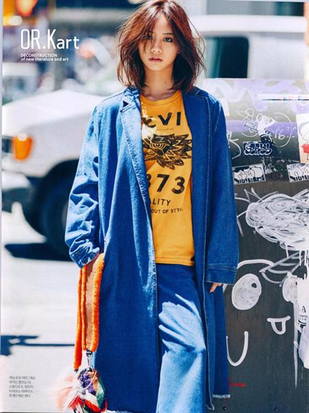 解构女装蓝色大衣 款号262176