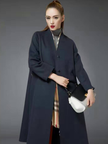 优尚美秋冬灰色毛呢大衣