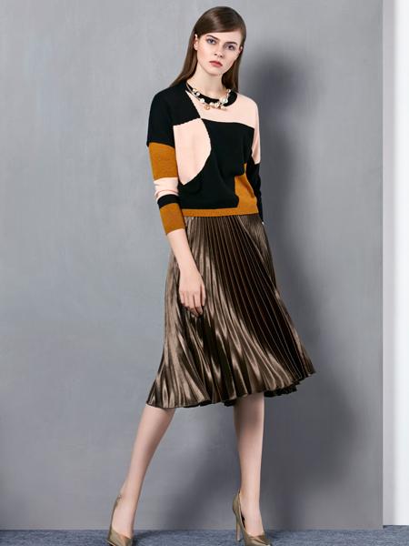 奥伦提女装秋冬新款毛衫套装