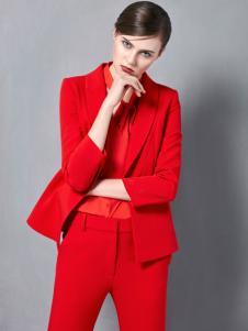 奥伦提秋冬时尚红色西服套装