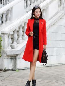 卡茵琪长款时尚外套新款