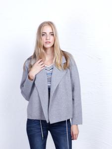 丹尼布鲁秋季时尚灰色外套