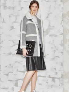 必芙丽灰色棉衣