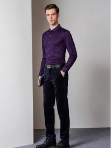爱迪·丹顿秋款紫色衬衣