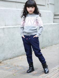 韩维妮童装新品女童针织衫