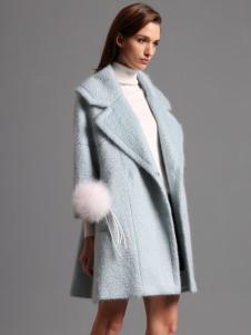 2016斯尔丽蓝色大衣