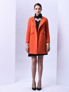 sumsilk夏丝女装橘色大衣
