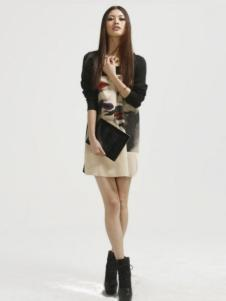 缇蕾娜女装时尚内衬连衣裙
