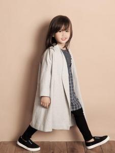 天使舞台女童长款外套