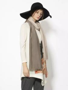 迪斯廷凯秋冬时尚长款白色打底衫