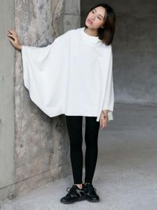 YBS女装2016秋冬新品白色罩衫