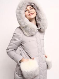 丹诗格尔2016冬季女士带帽羽绒服
