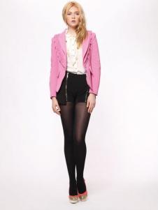 时尚年代女装亮粉色外套