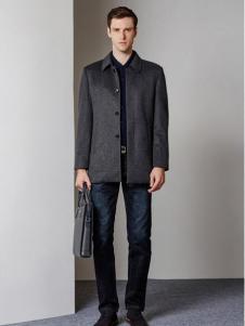 爱迪·丹顿灰色简约时尚外套