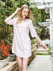 HSIA纯色短袖时尚睡衣