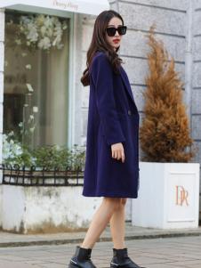 卡茵琪秋季蓝色外套新款