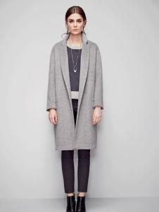 必芙丽灰色呢子大衣