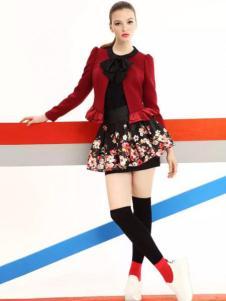 卓姿乔雅女装红色短外套