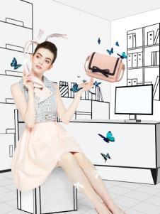 artmi粉色浪漫韩版单肩包时尚新品