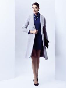 sumsilk夏丝女装灰色长款大衣